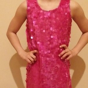 Approx sz 10 Monsoon Girls Paillette Sequin dress